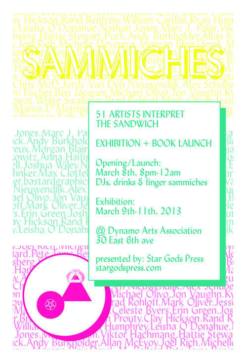 Sammiches Book Launch Flyer