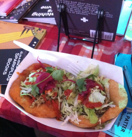 Fry bread tacos at Short Run