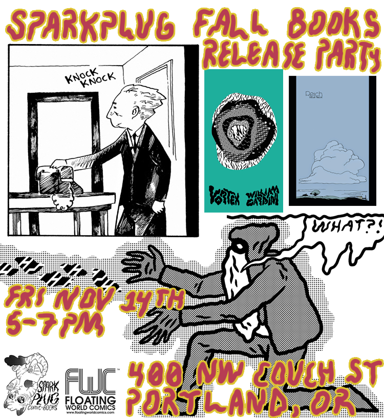 Sparkplug Fall Books Release Party Flyer
