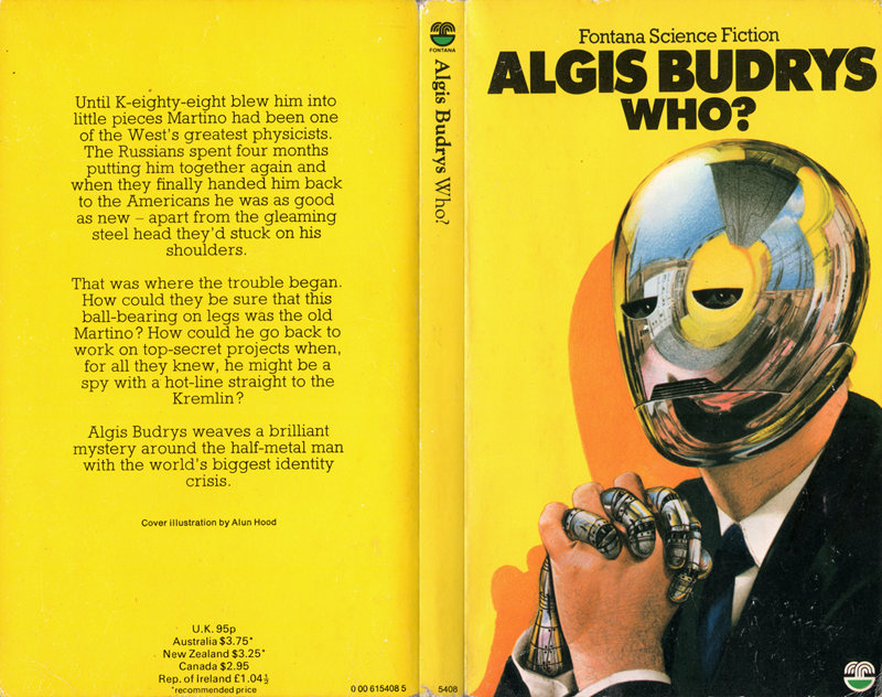 Who by Algis Budrys, cover by Alun Hood