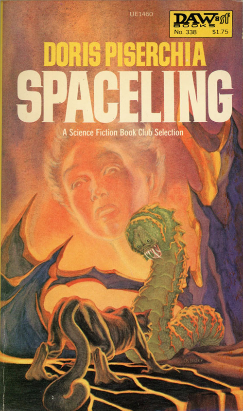 Spaceling by Doris Piserchia, cover art by George Barr