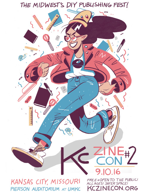 KC Zine Con 2 will be in Pierson Auditorium at The University of Missouri, Kansas City, MO 64110